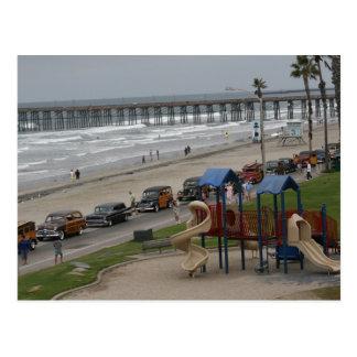 Woodies à la plage carte postale