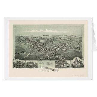 Woodsfield, carte panoramique de l'OH - 1899