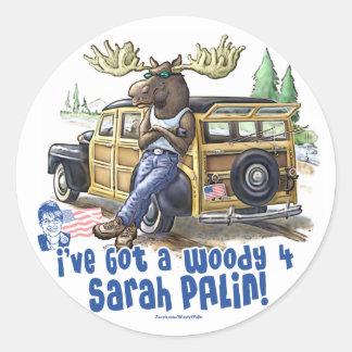 Woody 4 Palin Adhésifs Ronds
