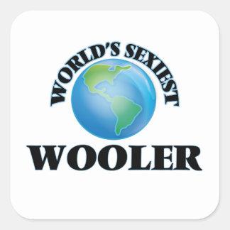 Wooler le plus sexy du monde autocollant carré