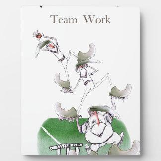 Work d'équipe de cricket de Yorkshire d'amour ' Plaque Photo