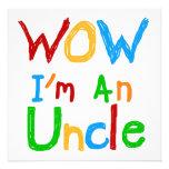 Wow je suis un oncle T-shirts et des cadeaux Carton D'invitation