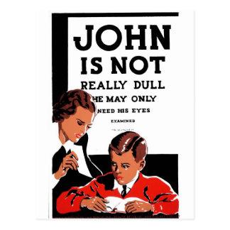 "WPA - ""John n'est pas"" carte postale"