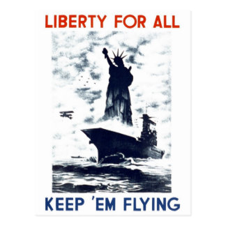 "WPA - ""liberté pour toute la"" carte postale"