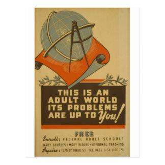 WPA - monde adulte Carte Postale