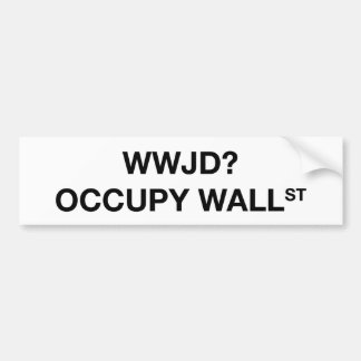 WWJD ? Occupez Wall Street Adhésif Pour Voiture