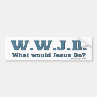 WWJD ? Que Jésus ferait-il ? Autocollant De Voiture