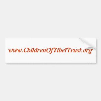 www.ChildrenOfTibetTrust.org Autocollant De Voiture