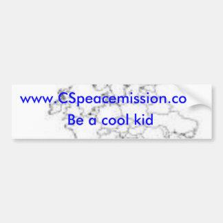www.CSpeacemission.com, soit un pare-chocs frais d Autocollant De Voiture