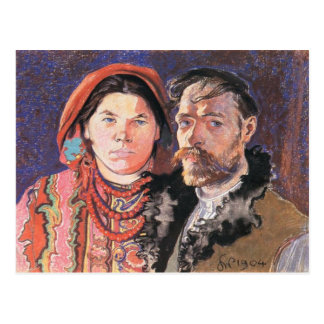 Wyspianski, l'artiste et son Wife, 1904 Cartes Postales