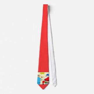 x85 Père Noël va au docteur Cartoon Christmas Tie Cravates