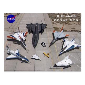 X-Avions de la NASA des cartes postales des années