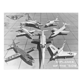 X-Avions de NACA des cartes postales des années