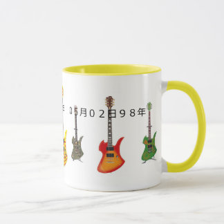 X japan hide's guitar mugs
