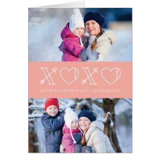 Xs et carte de voeux de Saint-Valentin d'OS -