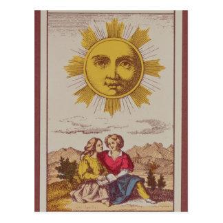 XVIIII Le Soleil, carte de tarot française du Sun