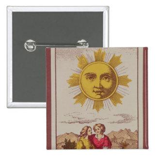 XVIIII Le Soleil, carte de tarot française du Sun Badge