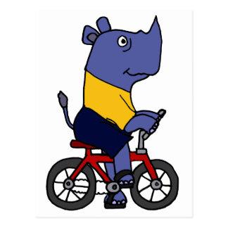 XX bande dessinée drôle de bicyclette d'équitation Carte Postale