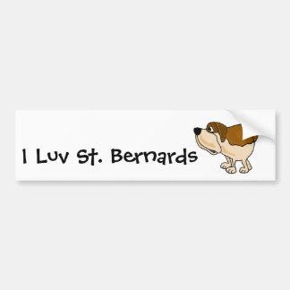 XX bande dessinée drôle de chien de St Bernard Autocollants Pour Voiture
