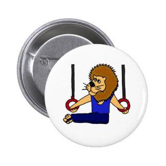 XX gymnaste de lion sur la bande dessinée d'anneau Badge