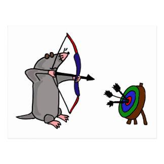 XX taupe aveugle en concurrence de tir à l'arc Carte Postale