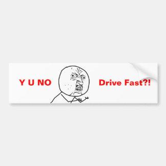 Y U AUCUNE commande rapide - adhésif pour pare-cho Autocollant Pour Voiture