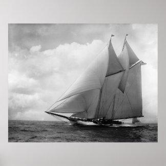 Yacht Amérique c1910 Poster