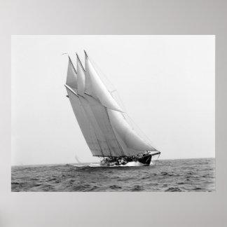 Yacht d emballage Océan atlantique 1904 Affiches