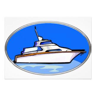 Yacht dans l'ovale invitations