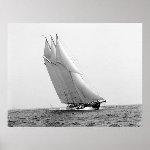 Yacht d'emballage Océan atlantique : 1904 Affiches