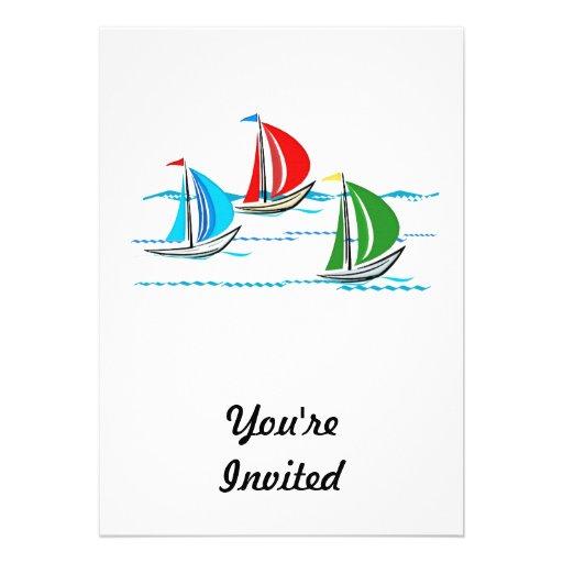 Yacht emballant le trio invitations