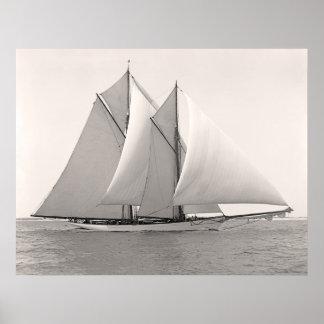 Yacht MERLIN de schooner Affiches