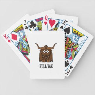 yaks de taureau cartes à jouer