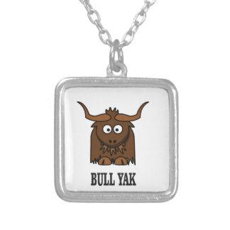 yaks de taureau pendentif carré