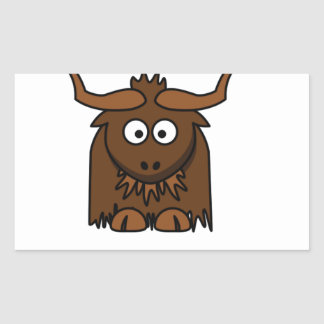 yaks délabrés sticker rectangulaire