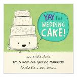 YAY pour le faire-part de mariage de gâteau de