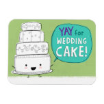 YAY pour le gâteau de mariage ! Aimant flexible Magnet