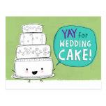 Yay pour le gâteau de mariage ! Carte postale