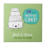 YAY pour le gâteau de mariage ! Conception humoris Carreau