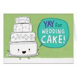 YAY pour le gâteau de mariage !  Personnalisable Cartes