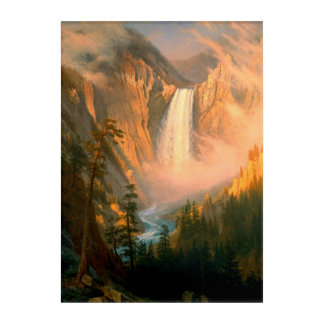 Yellowstone tombe art acrylique de mur