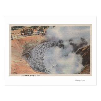 Yellowstone, WYView de cratère de volcan de boue Carte Postale