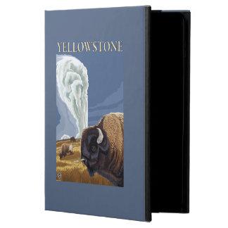 YellowstoneBison avec vieux fidèle
