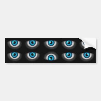 yeux bleus autocollant pour voiture