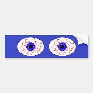 yeux bleus injectés de sang autocollant de voiture
