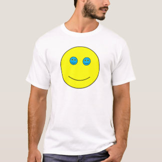 Yeux bleus nichés de sourires t-shirt