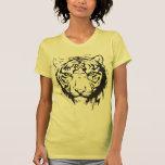 Yeux bleus principaux de tigre t-shirt