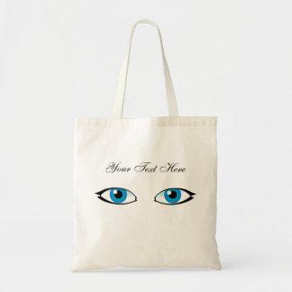 Yeux bleus sac