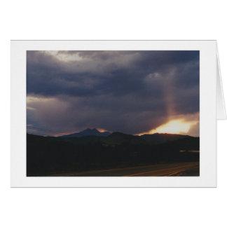Yeux dans le ciel au-dessus de Boulder Cartes De Vœux