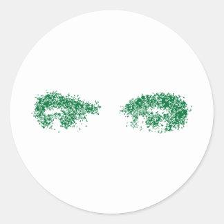 Yeux de dragon en vert adhésifs